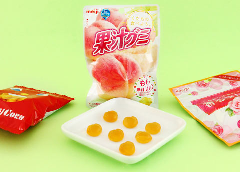 Meiji Fruit Gumi Peach Gummy Candy