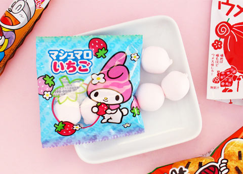 Sanrio Characters Strawberry Marshmallows