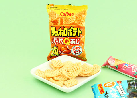 Calbee Sapporo Potato Chips BBQ Flavor