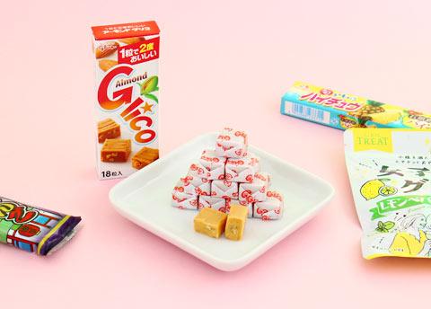 Glico Almond Caramel Cubes