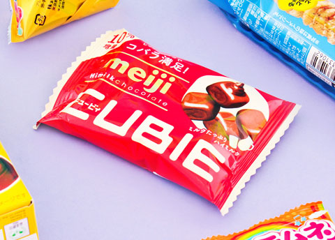 Meiji Hi-Milk Chocolate Cubie