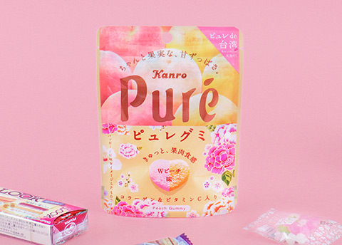 Kanro Pure Flowery Double Peach Gummies