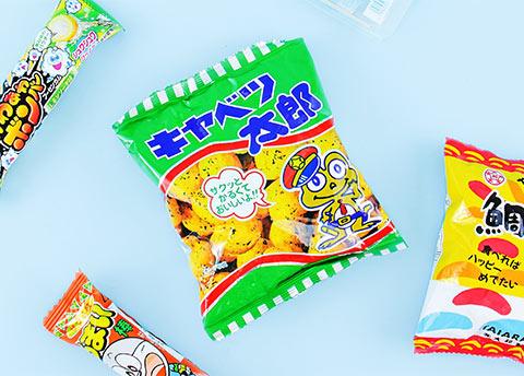 Kyabetsu Taro Corn Snacks